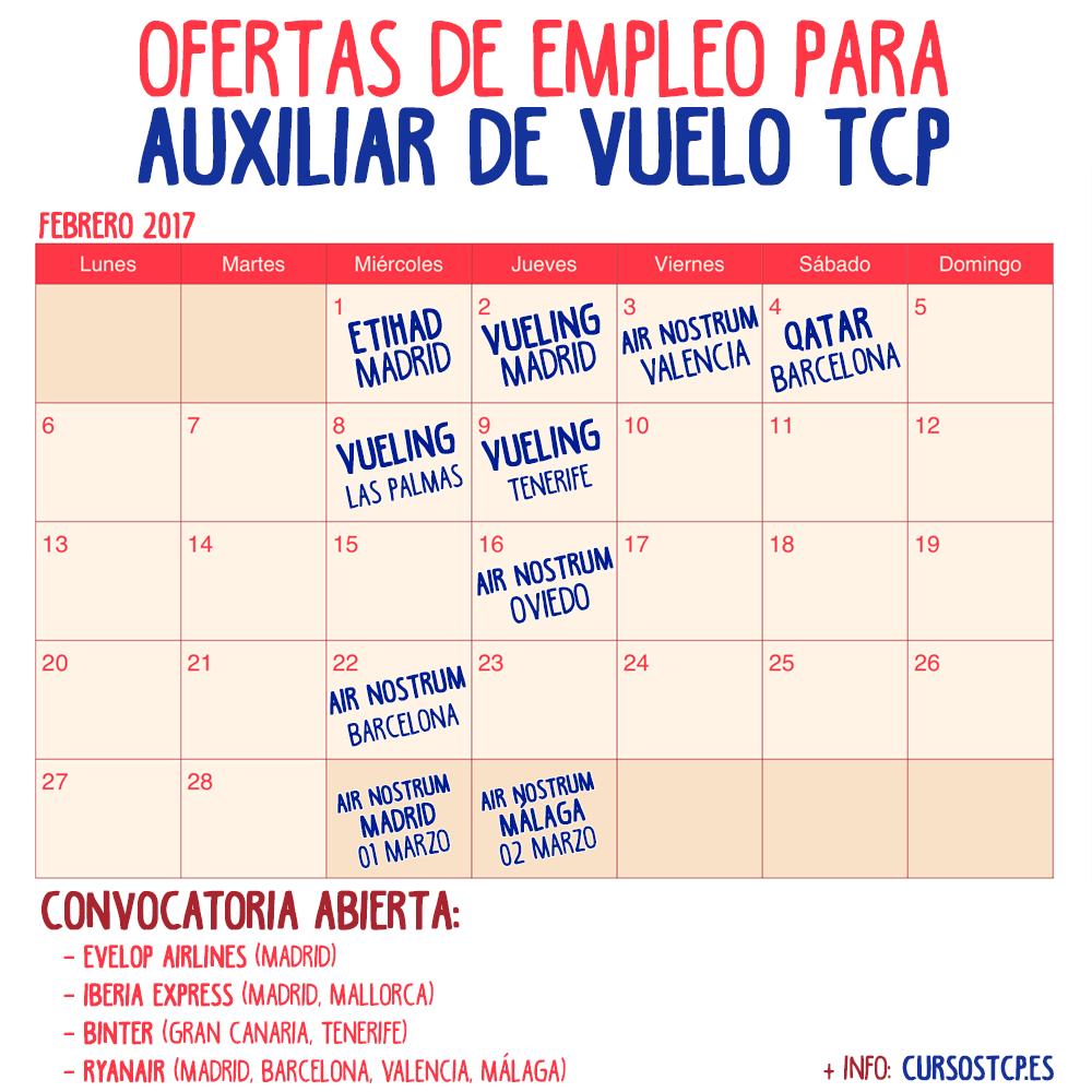 Ofertas de empleo para auxiliar de vuelo tcp en febrero de - Ofertas de empleo en madrid ...